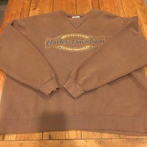 Harley Davidson brown sweatshirt in large